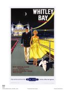 Whitley Bay -Promenade - Railway & Travel Poster